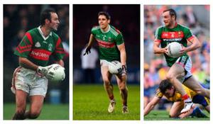 (L-R) Liam McHale, Lee Keegan and Keith Higgins have all played in multiple All-Ireland final as the Green and Red tried to end their Sam Maguire drought. Pictures: Sportsfile
