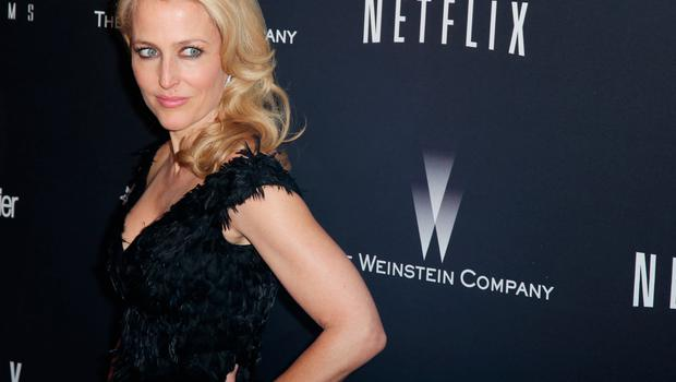 Actress Gillian Anderson attends The Weinstein Company & Netflix's 2014 Golden Globes After Party presented by Bombardier, FIJI Water, Lexus, Laura Mercier, Marie Claire and Yucaipa Films at The Beverly Hilton Hotel on January 12, 2014 in Beverly Hills, California.  (Photo by Ari Perilstein/Getty Images for The Weinstein Company)