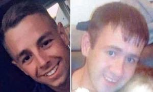 Victims: Jonathan Healy (left) and Patrick Hogan were killed in the crash in Co Clare last Thursday