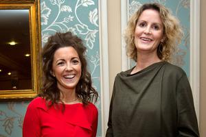 Claire McCormack of the 'Farming Independent' with RTÉ presenter Helen Carroll at the event. Photo: Tony Gavin