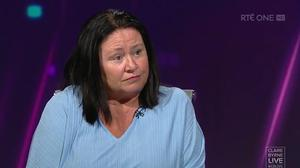 Nursing home owner Lucy Flynn Photo: RTÉ/Claire Byrne Live