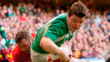 Brian O'Driscoll scoring a try against Wales in Ireland's 2007 victory. Photo: Pat Murphy/Sportsfile