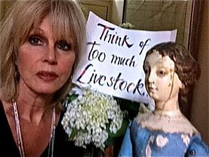 Actress Joanna Lumley in Sir Paul McCartney's new video for Meat Free Monday. Photo: MPL Communications/PA Wire