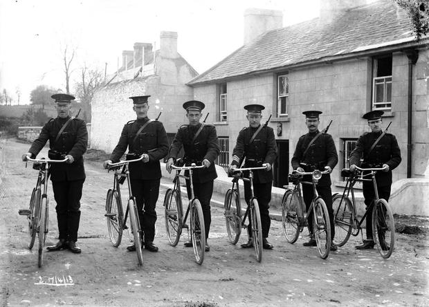 On parade: Members of the Royal Irish Constabulary in 1913