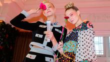 Models on stage during the RIXO Presentation held at the Kimpton Fitzroy Hotel as part of London Fashion Week February 2020
