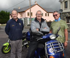 Tom Kelleher, Beaufort; James O'Brien, Castlemaine; and Willie Fleming, Killarney at the charity run. All photos by Michelle Cooper Galvin