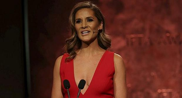 Amanda Byram hosted the IFTAs. Picture: Kyran O'Brien