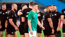 Ireland's Johnny Sexton walks off dejected after the New Zealand match. Photo: Adam Davy/PA Wire