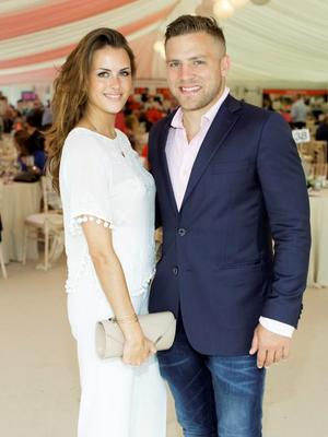 Anna Kirwan & Ian Madigan pictured at the 150th Dubai Duty Free Irish Derby at the Curragh Racecourse on Saturday 27th June . Photo: Anthony Woods