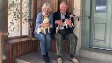 Britain's Prince Charles and Camilla, Duchess of Cornwall, celebrate their 15th wedding anniversary, at Birkhall, their home on the Balmoral Estate, in Scotland