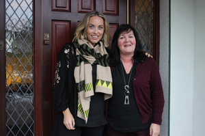 Operation Transformation leader Mary Diamond with Kathryn Thomas.  PIC: RTE