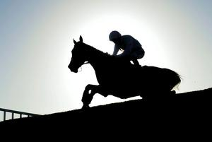 Vautour and Ruby Walsh soar over the final fence on the way to victory at Navan yesterday. Picture credit: Barry Cregg / SPORTSFILE