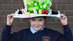 First Class pupil Lucy Kiely wearing her wonderful Easter Bonnet. Photos by Sheila Fitzgerald