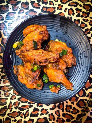 Spicy funk: chicken wings