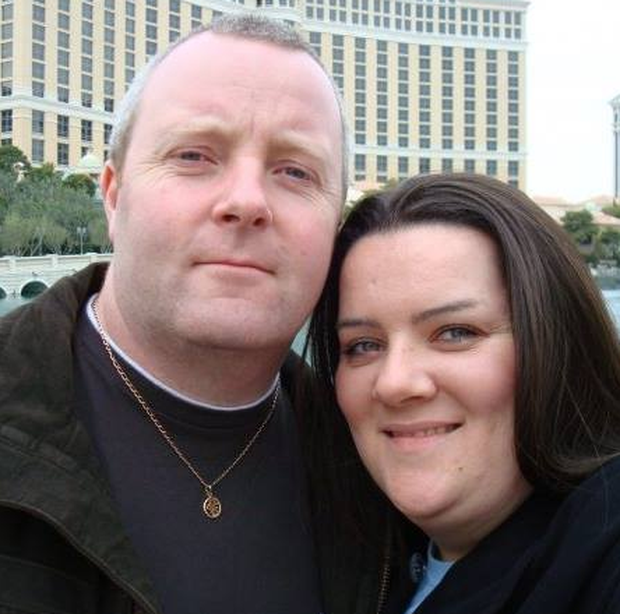 Kelly Waring and her husband Neil.
