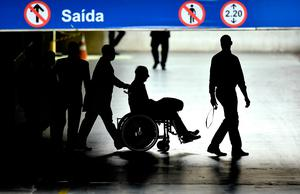 2nd NEWS Patrick Hickey  President of the OCI and member of the IOC  leaves the Hospital Samaritano in a wheelchair accompanied by police having been arrested during the Rio Olympics Brendan Moran Sportsfile