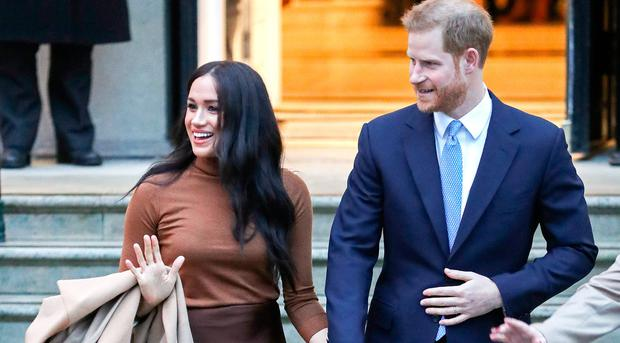 Meghan, Duchess of Sussex and Prince Harry, Duke of Sussex depart Canada House on January 07, 2020 in London, England. (Photo by Chris Jackson/Getty Images)