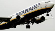 A Ryanair flight. Picture credit Rui Vieira/PA Wire
