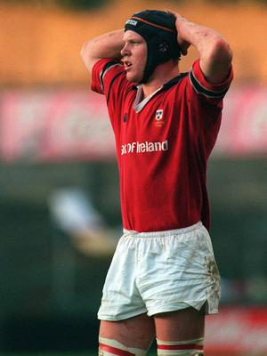 8 December 2001; Paul O'Connell, Munster. Rugby. Picture credit; Damien Eagers / SPORTSFILE