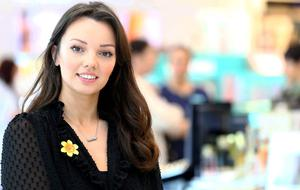 Jess Molony who is the Boots cancer beauty adviser. Picture: David Conachy