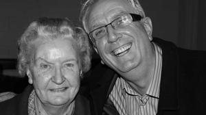 Rory Cowan with his mother Esther.