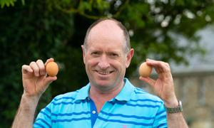 Egg production is now the main income source for the farm. Picture: Patrick Browne