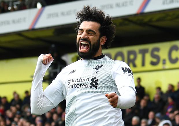 Liverpool's Mohamed Salah scored Liverpool's winner at Crystal Palace on Saturday. Photo: Reuters