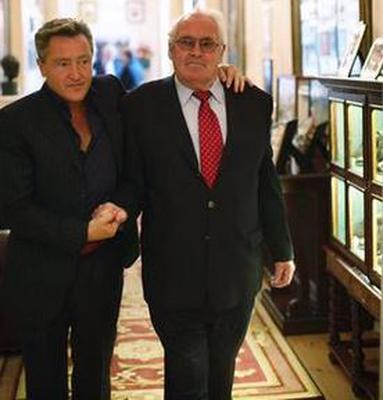 Michael Flatley with his late father Michael Snr