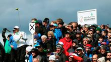 Despite not being at his best, Rory McIlroy was still the biggest draw at Royal County Down (Brian Lawless/PA Wire)
