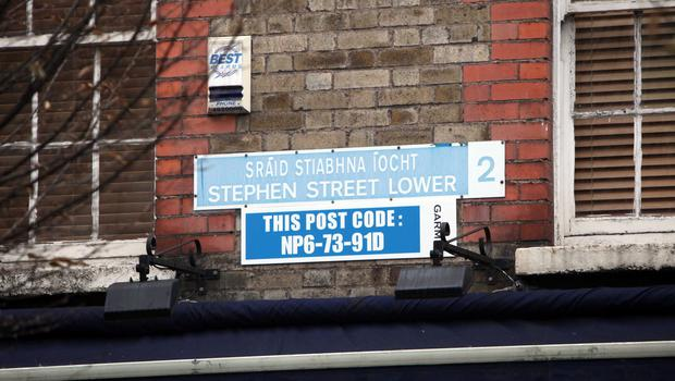 A sat-nav postcode for Stephen Street Lower - soon every street in Ireland will have a unique postcode
