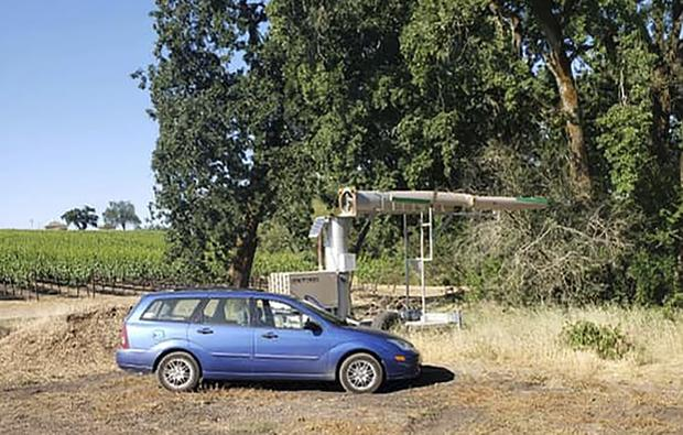 A suspicious vehicle was seen parked in the area (Sonoma County Sheriff's Office via AP)