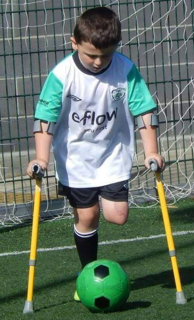 Conor (6) has had a new lease of life since joining the Irish Amputee Football Association