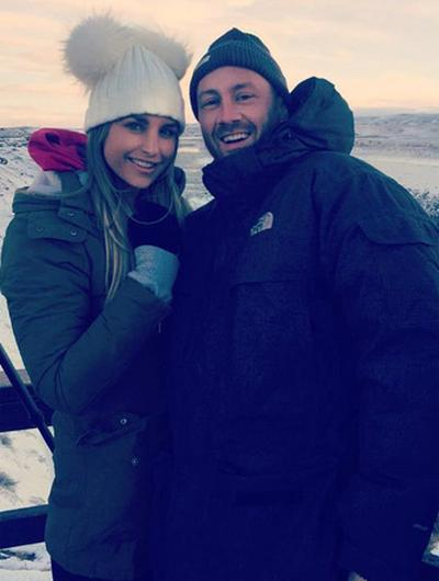 Vogue Williams and Maser in Iceland. Picture: Instagram