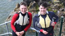 Brian Houghton (17), from Gleneely, and Riain Shortt (18), from Moville. Photo: Lorcan Doherty/Presseye