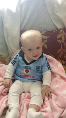 Here is a picture of my daughter caoimhe Clarke duignan getting ready during the week for the match! She's super excited for it!!!! Credit: Aidan Duignan via email