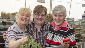 Goat farmers and best of friends Yvonne Hamilton, Jean Jones and Marie Kerry
