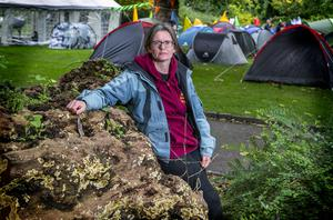 New priorities: farmer Aisling Wheeler from Ennistymon, Co Clare as part of the Extinction Rebellion based in Merrion Square, Dublin. Photo by Kyran O'Brien