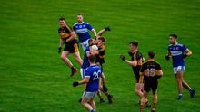 Gavin White of Dr Crokes signals for a mark after catcing a kickout during the Kerry County Senior Club Football Championship