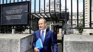 Fianna Fail leader Micheal Martin pictured leaving Government buildings after talks concluded on a programme for government  Picture; Gerry Mooney