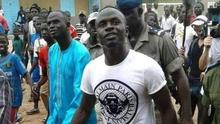 Liverpool star Sadio Mane, pictured on a visit to his home town of Bambali in Senegal