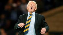 Scotland manager Gordon Strachan during the UEFA European Championship Qualifying match at Hampden Park