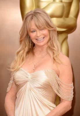 Actress Goldie Hawn attends the Oscars held at Hollywood & Highland Center on March 2, 2014 in Hollywood, California.  (Photo by Jason Merritt/Getty Images)