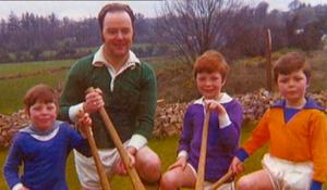 Brian Stack, who was murdered in 1983, with his children