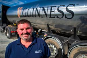 Eugene Dreghiciu, who drove the Guinness truck filled with water to the Termonfeckin Reservoir Photos: Doug O'Connor