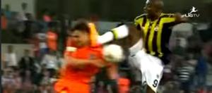 High tackle from Pierre Webo as Fenerbahce have four players sent off