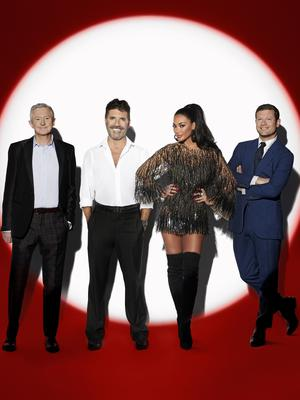 Judges Louis Walsh, Simon Cowell and Nicole Scherzinger with host Dermot O'Leary (Syco/Thames TV/PA)