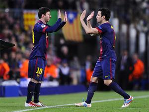 10 April: Lionel Messi is introduced as a 62nd minute substitute for Barcelona at the Nou Camp. He replaced Cesc Fabregas and played a crucial role in the 1-1 draw which sees Barcelona progress to the Champions League semi-finals at the expense of Paris St Germain