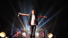 """Niall Horan of One Direction performs onstage during the """"Where We Are"""" tour at Met Life Stadium on August 4, 2014 in New York City.  (Photo by Kevin Mazur/OneD/Getty Images)"""