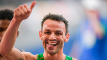 7 August 2018; Thomas Barr of Ireland reacts after competing in the Men's 400mH Semi-Final during Day 1 of the 2018 European Athletics Championships at The Olympic Stadium in Berlin, Germany. Photo by Sam Barnes/Sportsfile