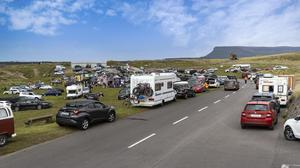 Rosses Point at the weekend - packed like other resorts around the county